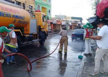 Ejecutan limpieza contra el COVID-19 en El Progreso (Vídeo)