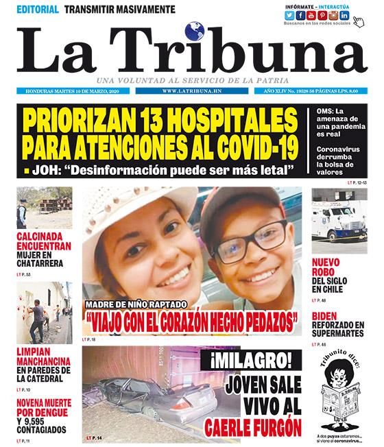 PRIORIZAN 13 HOSPITALES PARA ATENCIONES AL COVID-19