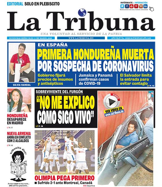 PRIMERA HONDUREÑA MUERTA POR SOSPECHA DE CORONAVIRUS