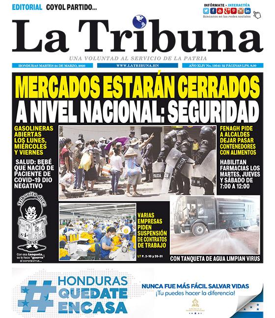 MERCADOS ESTARÁN CERRADOS A NIVEL NACIONAL: SEGURIDAD