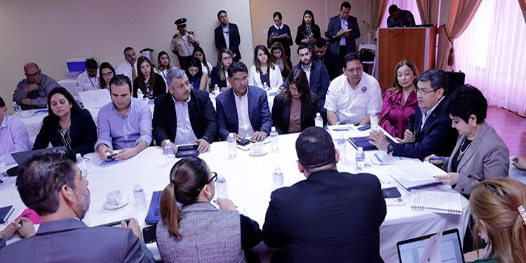 El Presidente Juan Orlando Hernández se reunió con delegados de Anaprohfar y de la OPS para analizar soluciones para enfrentar el coronavirus.