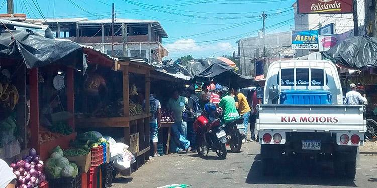 Los mercados de la ciudad de Choluteca funcionaron normalmente.