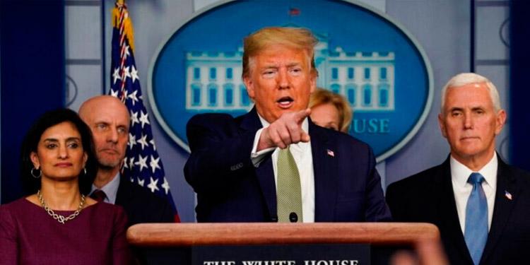 """Trump insta a los estadounidenses a """"salir"""" a pesar de la covid-19 (Video)"""