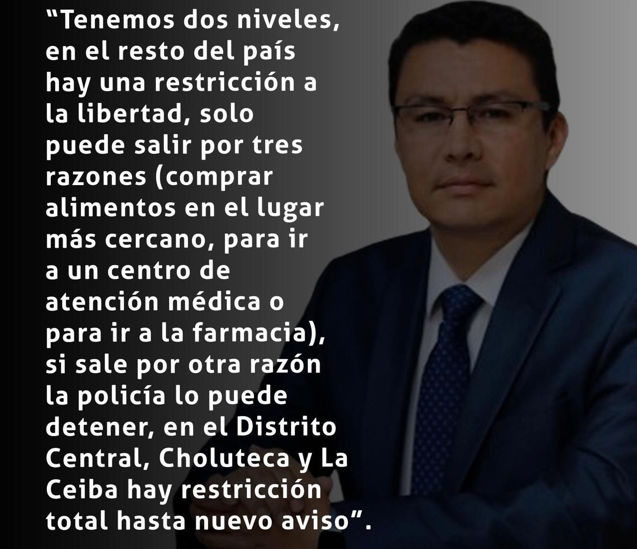 Aclaración de parte de Ministro Ebal Diaz