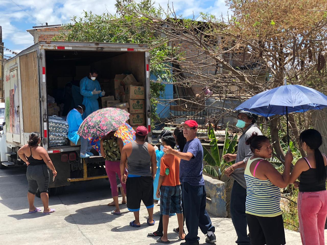 Banasupro manda a estas cuatro rutas las unidades móviles para abastecer de alimentos a la población
