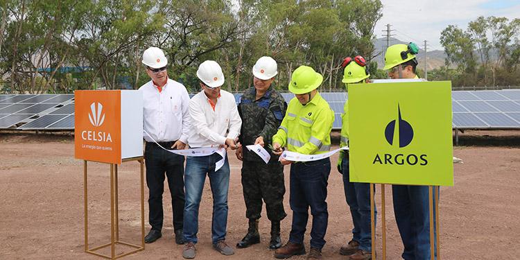 Cementos Argos y Celsia Inauguran granja de energía solar