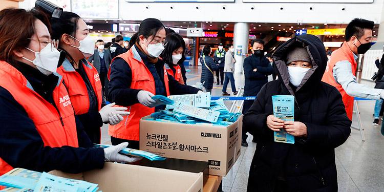 Corea del Sur reporta 599 casos y supera los 4,000 contagios de coronavirus