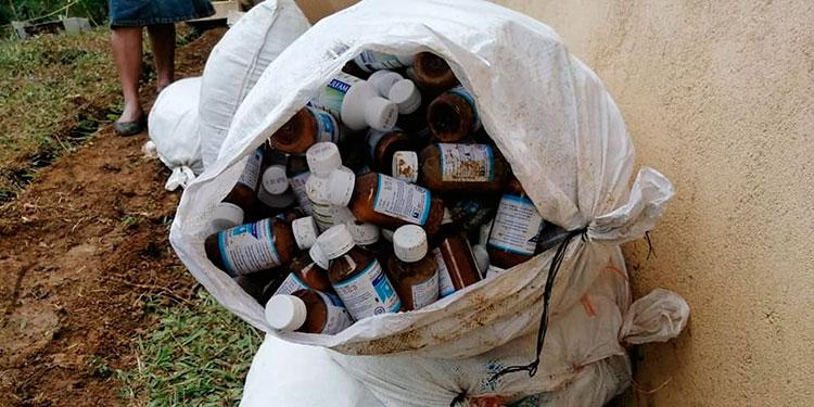 La mayor parte de medicamentos encontrados ya estaban vencidos.