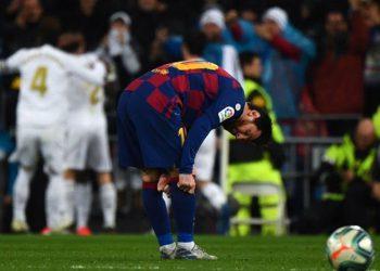 Messi se apagó en el Bernabéu