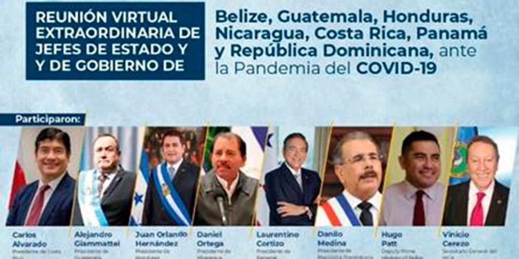 Presidentes de Centroamérica unidos contra el Coronavirus