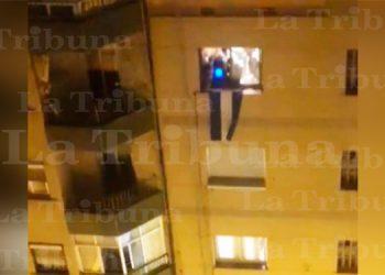 Catrachos ponen en ambiente con 'Tusa' a vecindario de España durante aislamientos (Video)