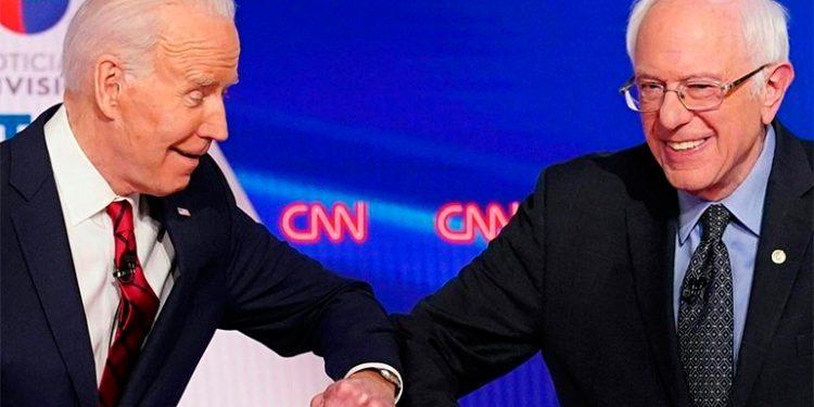 Bernie Sanders da su apoyo a Joe Biden para vencer a Trump