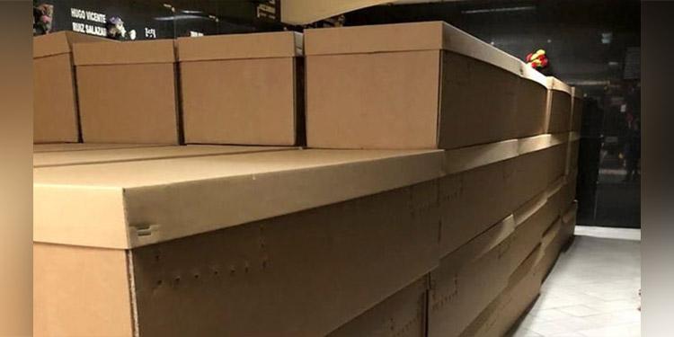 Ataúdes de cartón mitigan demanda durante emergencia por ...