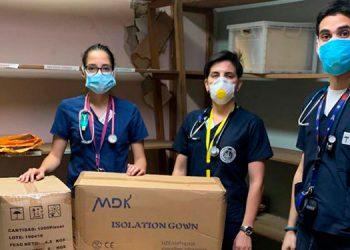 El Grupo Financiero Ficohsa entregó insumos médicos para el personal sanitario del Hospital Escuela Universitario.
