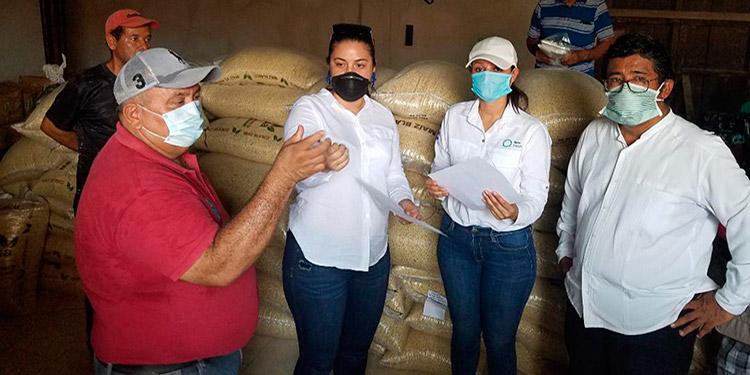 Solo la alcaldía de Choluteca recibió 205 quintales de granos básico y 2,270 libras de manteca.
