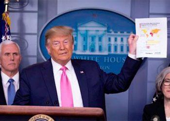 Trump muestra la prueba de coronavirus que dio negativa