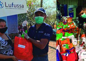 Lufussa dona alimentos en comunidades al sur de Honduras