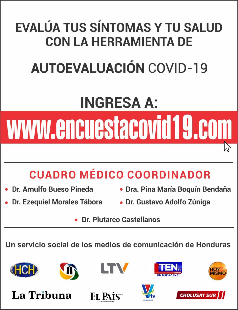 Hondureños respaldan sitio lanzado por influyentes medios para autoevaluar COVID-19