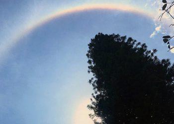 El halo o aro de luz se vio así en Honduras (Vídeo)