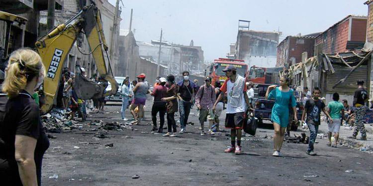 El gigantesco incendio afectó a cientos de mercaderes y sus familias que dependían de los ingresos obtenidos con las ventas.