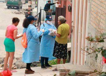 Inicia jornada de entrega de mascarillas en la Flor del Campo
