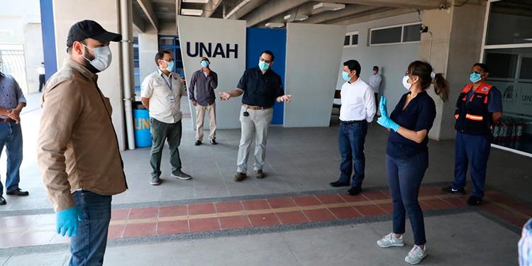 Habilitan polideportivo de la UNAH para atender pacientes con COVID-19