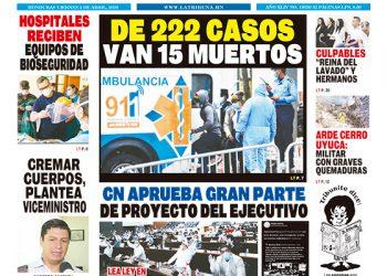 DE 222 CASOS VAN 15 MUERTOS
