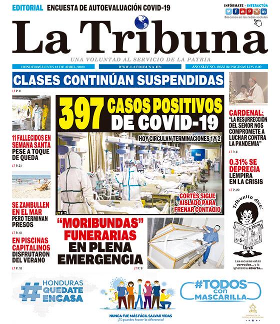 397 CASOS POSITIVOS DE COVID-19