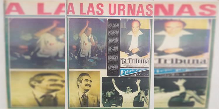 La Tribuna impulsó el retorno a la democracia y así destacaba las elecciones generales de 1981.