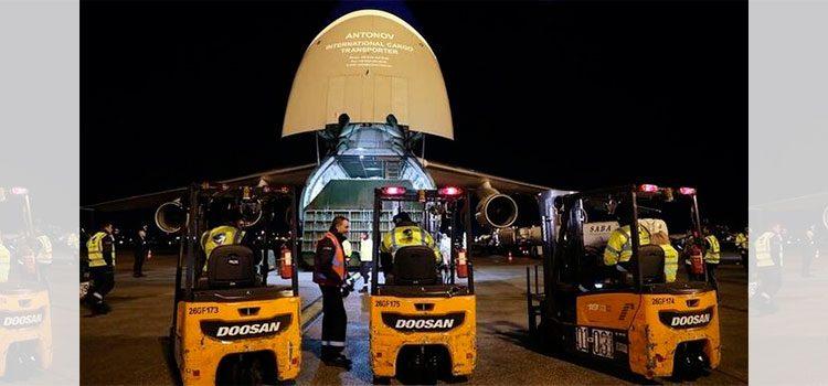 Avión ruso con ayuda humanitaria por coronavirus llega a Nueva York