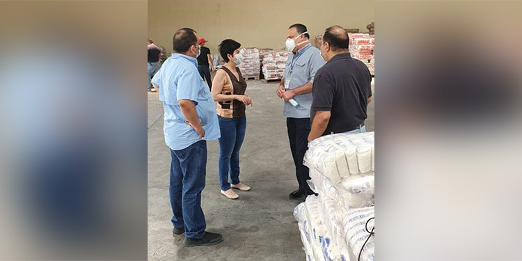 Nueva bodega de 'Operación Honduras Solidaria' en San Pedro Sula es supervisada
