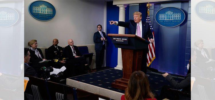 """Trump: """"Yo decidiré sobre el confinamiento, no gobernadores"""""""