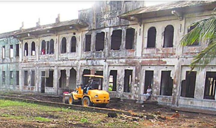 El antiguo de la Tela Railroad Company en la ciudad de Tela recuerda la influencia de las compañías bananeras en el siglo pasado.