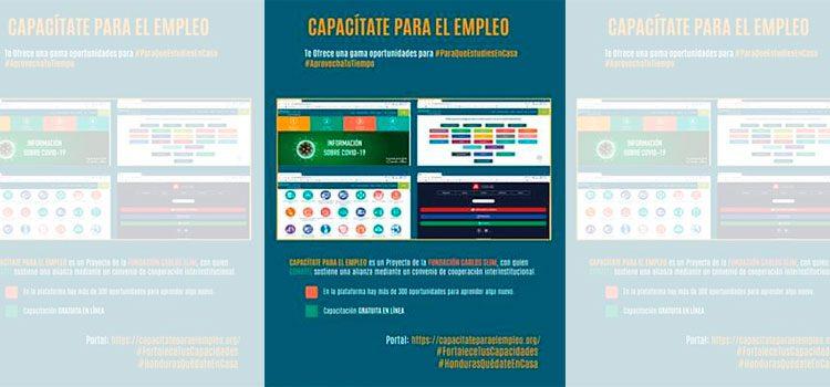 """Conatel y la Fundación Carlos Slim ponen a disposición plataforma """"Capacítate para el empleo"""" de forma gratuita"""