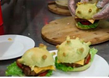 "Venta ""loca"" de hamburguesas ""Coronavirus"""