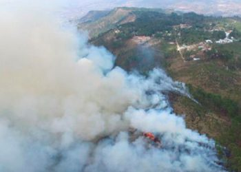 Se registra un incendio forestal en El Chimbo