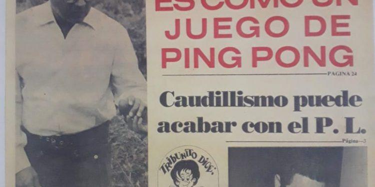 Una portada de La Tribuna en 1976 daba cuenta del ambiente político hondureño de cara a la constituyente.