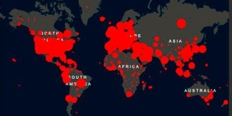 Los casos de COVID-19 superan los dos millones en el mundo, según Johns Hopkins