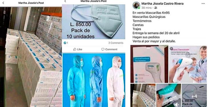 """En redes sociales las ventas de insumos médicos y materiales indispensables para quienes atienden a pacientes con COVID-19 se ofertan como """"pan caliente""""."""