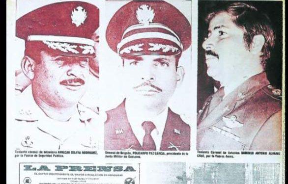 El colega Diario La Prensa destacó así la sustitución del general Juan Alberto Melgar Castro por la junta militar encabezada por el general Policarpo Paz García.