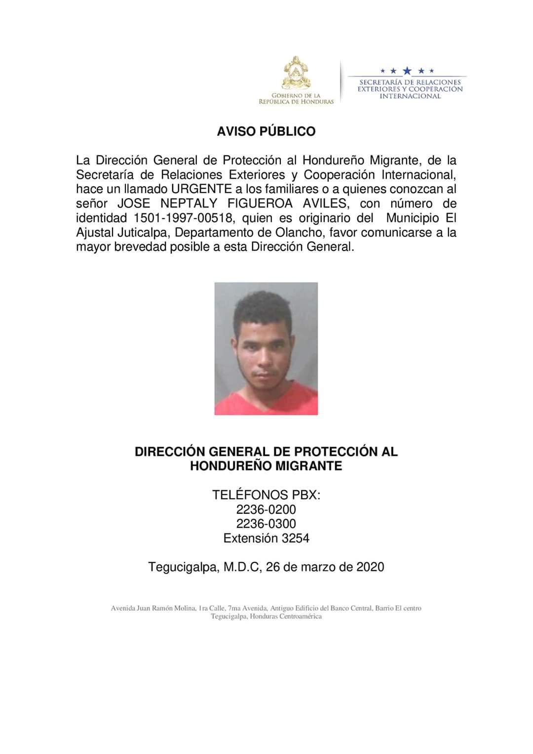Cancillería busca a hondureño por caso de su hija en una corte de EEUU