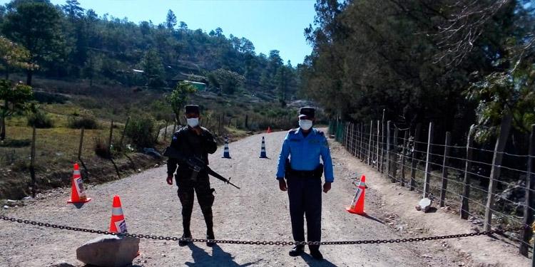 Policía Nacional satura el sur de Francisco Morazan para prevenir un contagio del Coronavirus