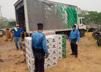 Decomisan camión con 103 cajas de cervezas en Yoro