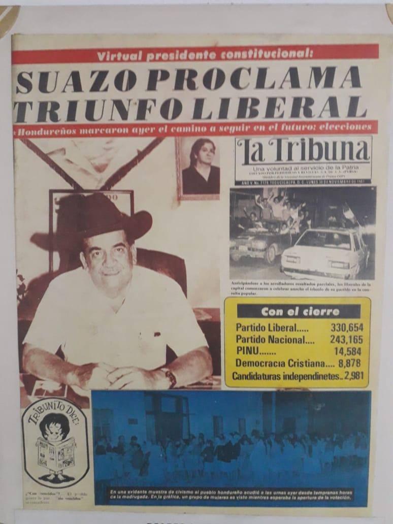 El Dr. Suazo Córdova presidió la Asamblea Nacional Constituyente de 1980 y posteriormente ganó las elecciones presidenciales de 1981.