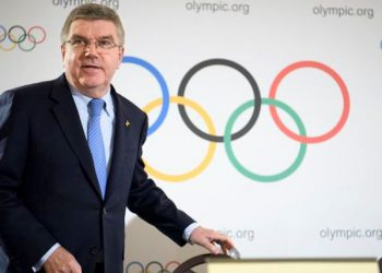 International Olympic Committee (IOC) president Thomas Bach, from Germany arrives for a press conference after the executive board meeting of the International Olympic Committee , in Lausanne, Switzerland, Thursday, Dec. 8, 2016. (Laurent Gillieron/Keystone via AP)