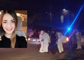 Katia Gissel Cardona Sosa (foto inserta) después de chocar su automotor con un taxi, supuestamente decidió quitarse la vida de un disparo en la cabeza.