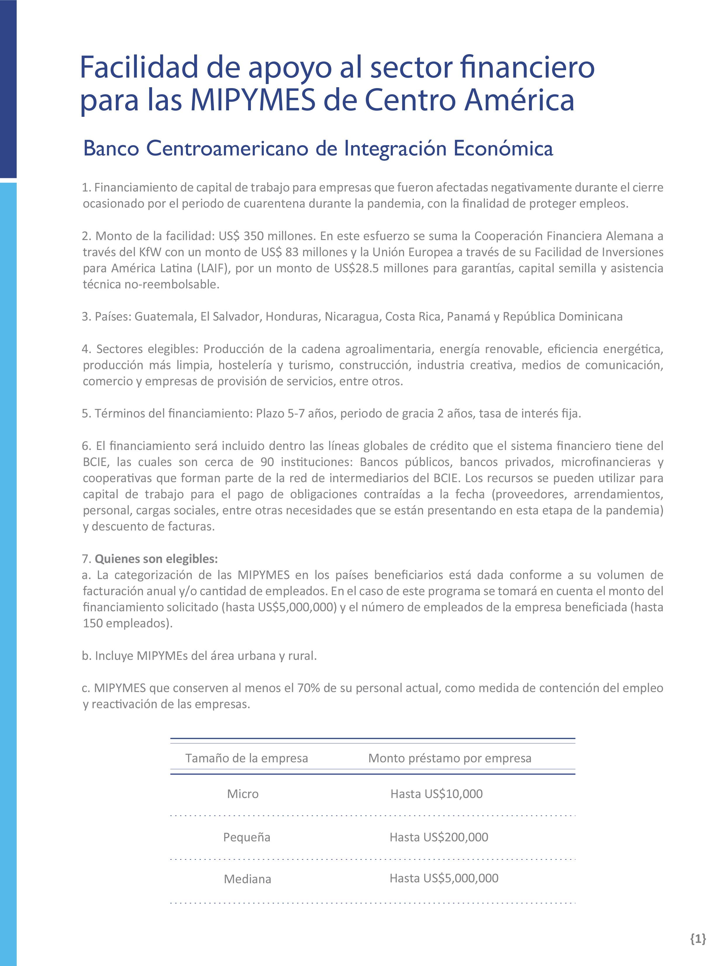 BCIE; KfW y UE aportan $350 millones para Mipymes afectadas por COVID-19