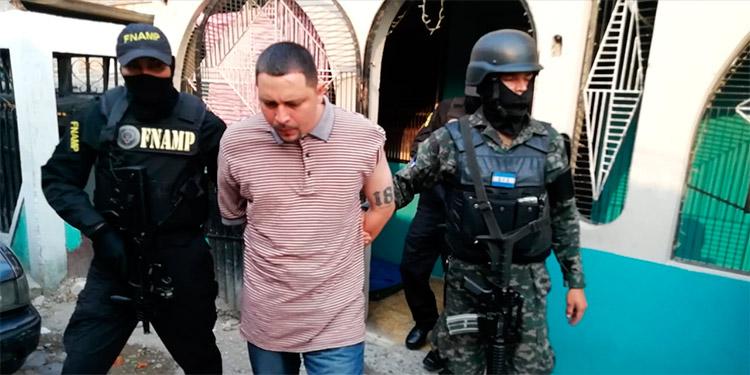 """Héctor Manuel Andino Moncada, alias de """"El Sparky"""", fue capturado en una casa de la colonia Divanna de Comayagüela."""