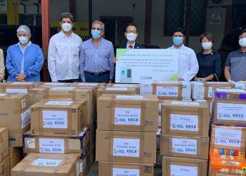 Corea dona equipo de bioseguridad al Leonardo