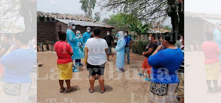 Las autoridades de salud realizaron 16 pruebas de COVID-19 en la comunidad de Guadalajara, Morocelí y todas resultaron negativas.